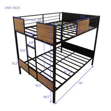 Load image into Gallery viewer, Gyrohomestore Mordern steel frame Full-over-full Bunk Bed