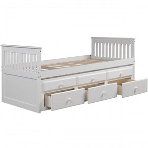 Gyrohomestore Storage Drawer Captain's Twin Trundle Bed