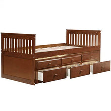 Load image into Gallery viewer, Gyrohomestore Storage Drawer Captain's Twin Trundle Bed