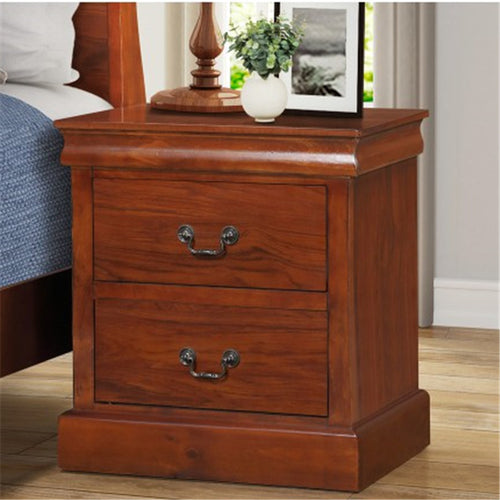 Gyrohomestore Nightstand Side Table with Two Drawers Storage
