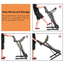 Load image into Gallery viewer, Gyrohomestore Folding Electric Treadmill Motorized Running Machine with Manual Incline