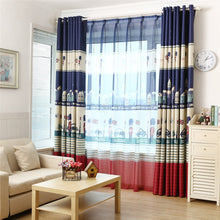 Load image into Gallery viewer, Gyrohomestore Cartoon British Guards Style Grommet Blackout Curtains