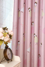Load image into Gallery viewer, Gyrohomestore Lovely Pink Cartoon Girls Blackout Grommet Top Curtain Panels