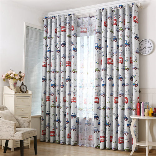 Gyrohomestore Cars Print Room Darkening Grommet Curtains Panel Pair