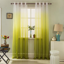 Load image into Gallery viewer, Gyrohomestore Blue Gradient Grommet Voile Sheer Curtains
