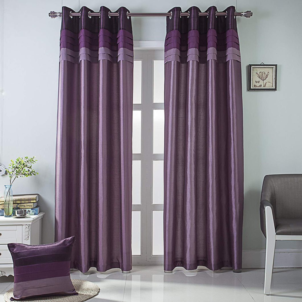 Gyrohomestore Purple Fully Lined Thermal Best Blackout Curtains