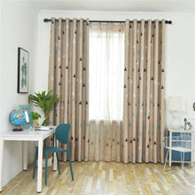Load image into Gallery viewer, Gyrohomestore Blackout Curtains Room Darkening Triangular Print Thick Curtains