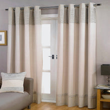Load image into Gallery viewer, Gyrohomestore Cotton Line Pleated Double-Layer Craft Stitching Blackout Curtains