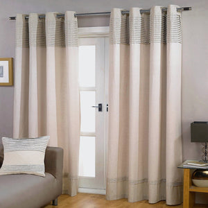 Gyrohomestore Cotton Line Pleated Double-Layer Craft Stitching Blackout Curtains
