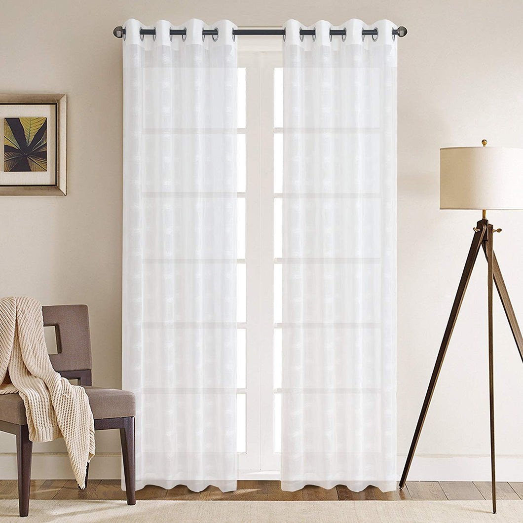 Gyrohomestore Window Sheer Grommet Curtain Panels Cheap