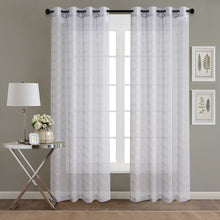 Load image into Gallery viewer, Gyrohomestore Window Sheer Grommet Curtain Panels Cheap