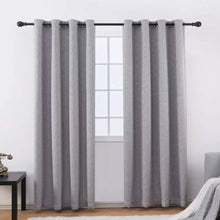 Load image into Gallery viewer, Gyrohomestore Room Darking Max Polyester Blackout Curtains Two Panels