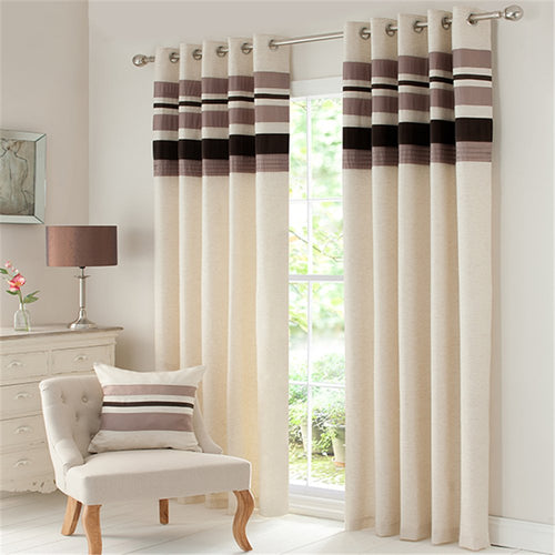 Gyrohomestore Fully Lined Satin Top Linen Room Darkening Window Treatment