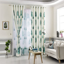 Load image into Gallery viewer, Gyrohomestore Floral Printed Top Thermal Insulated Blackout Curtains Cheap
