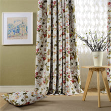 Load image into Gallery viewer, Gyrohomestore Luxury Floral Printed Room Darkening Window Drape