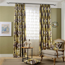 Load image into Gallery viewer, Gyrohomestore Nature Floral Thermal Engery Saving Blackout Curtains