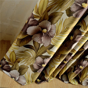Gyrohomestore Nature Floral Thermal Engery Saving Blackout Curtains