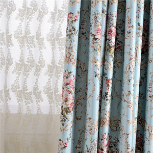 Gyrohomestore Cheap Floral Flowers Room Darkening Thermal Curtain Panels