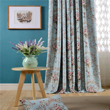 Load image into Gallery viewer, Gyrohomestore Cheap Floral Flowers Room Darkening Thermal Curtain Panels