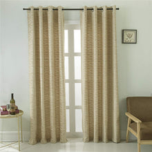 Load image into Gallery viewer, Gyrohomestore Gold Horizontal Stripes Eclipse Blackout Curtains