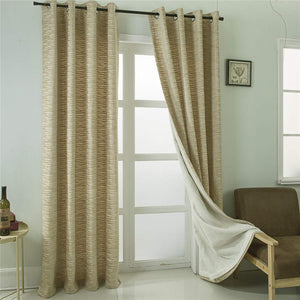 Gyrohomestore Gold Horizontal Stripes Eclipse Blackout Curtains