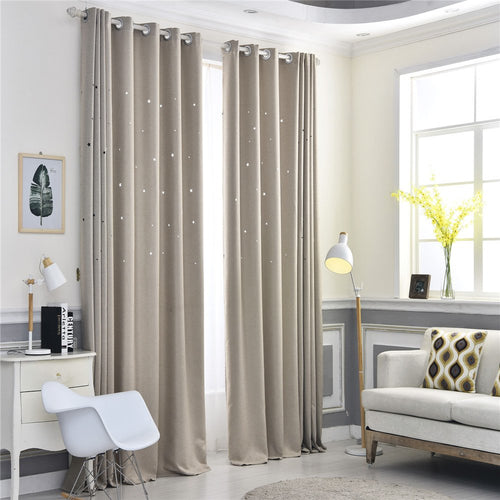 Gyrohomestore Starry Night Style Grommet Top Best Blackout Curtains