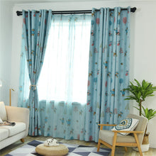 Load image into Gallery viewer, Gyrohomestore Cartoon Christmas Style Window Drapes Kids Blackout Curtains