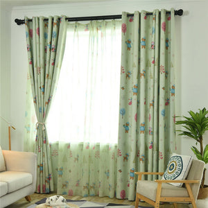 Gyrohomestore Cartoon Christmas Style Window Drapes Kids Blackout Curtains