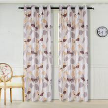 Load image into Gallery viewer, Gyrohomestore Leaves Print Thermal Insulated Room Darkening Blackout Curtain Lining