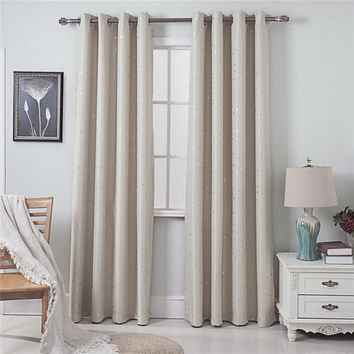 Gyrohomestore Twinkle Stars Washable Drape Noise Reducing Eclipse Blackout Curtains