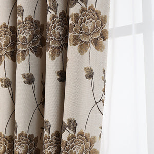 Gyrohomestore Farmhouse Big Flowers Cheap Blackout Curtains