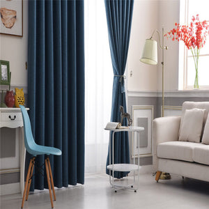 Gyrohomestore Navy Blue Star Hollow Cartoon Energy Saving Drape Thermal Blackout Curtains