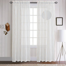 Load image into Gallery viewer, Gyrohomestore Decrative Sheer Rod Pocket Top Window Draps