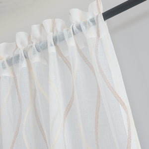 Gyrohomestore Decrative Sheer Rod Pocket Top Window Draps