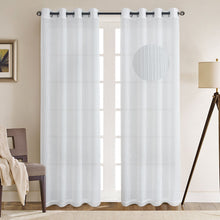 Load image into Gallery viewer, Gyrohomestore Basics Solid Grommet Top Decrative Sheer Curtains