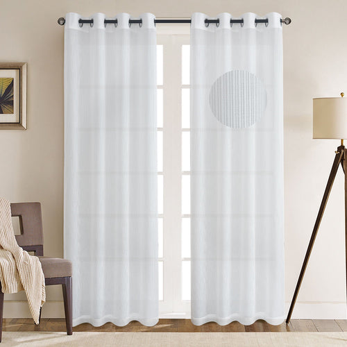 Gyrohomestore Basics Solid Grommet Top Decrative Sheer Curtains