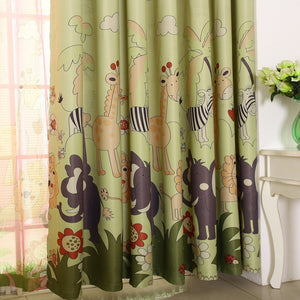 Gyrohomestore Printed Top Grommets Energy Saving Lovely Kids Blackout Curtains