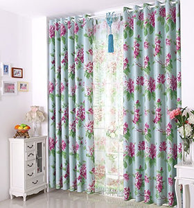 Gyrohomestore Under Energy Efficient Flowers Printed Max Blackout Curtains