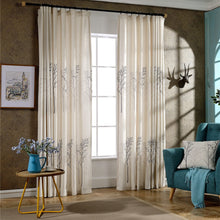 Load image into Gallery viewer, Gyrohomestore Trees Energy Efficient Solid Blackout Thermal Pinch Pleat Curtain Panels