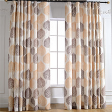 Load image into Gallery viewer, Gyrohomestore Autumn Natural Trees Embroidered Room Darkening Window Draps