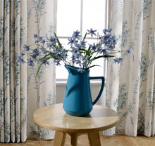 Load image into Gallery viewer, Gyrohomestore Blue Flowers Thermal Rod Pocket Best Blackout Curtains
