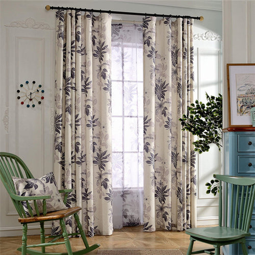 Gyrohomestore Natural Trees Printed Rod Pocket Cheap Blackout Curtains