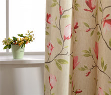 Load image into Gallery viewer, Gyrohomestore Pink Flowers Floral Room darkening Window Treatments