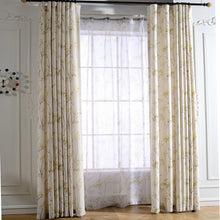 Load image into Gallery viewer, Gyrohomestore Synthetic Blackout Thermal Rod Pocket Curtain Panels