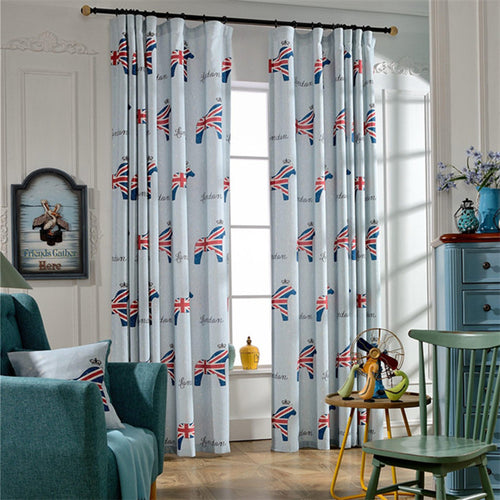 Gyrohomestore Lovely Printed Rod Pocket Kids Blackout Curtains