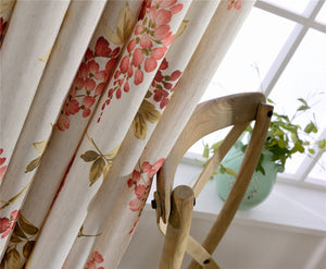 Gyrohomestore Floral Flowers Blackout Rod Pocket Energy Efficient Window Draps