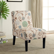 Load image into Gallery viewer, Gyrohomestore Living Room Armless Accent Chair with Solid Wood Legs