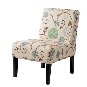 Gyrohomestore Living Room Armless Accent Chair with Solid Wood Legs