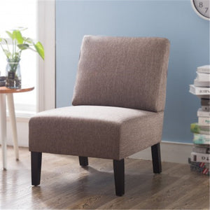 Gyrohomestore Modern Fabric Accent Chair Living Room Armless Chair with Wood Legs