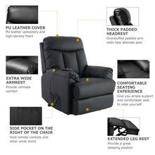 Load image into Gallery viewer, Gyrohomestore PU Leather Living Room Heavy Duty Reclining Lift Chair